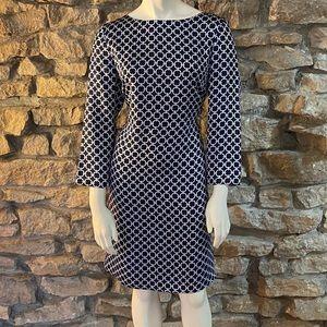 Brooks Brothers Dresses - Brooks Brothers Silk Dress Navy / Printed Size 6